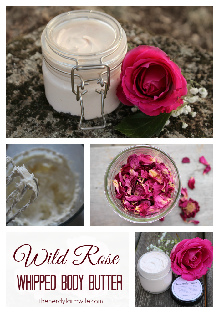 Wild Rose Whipped Body Butter Recipe