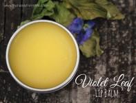 Violet Leaf Lip Balm