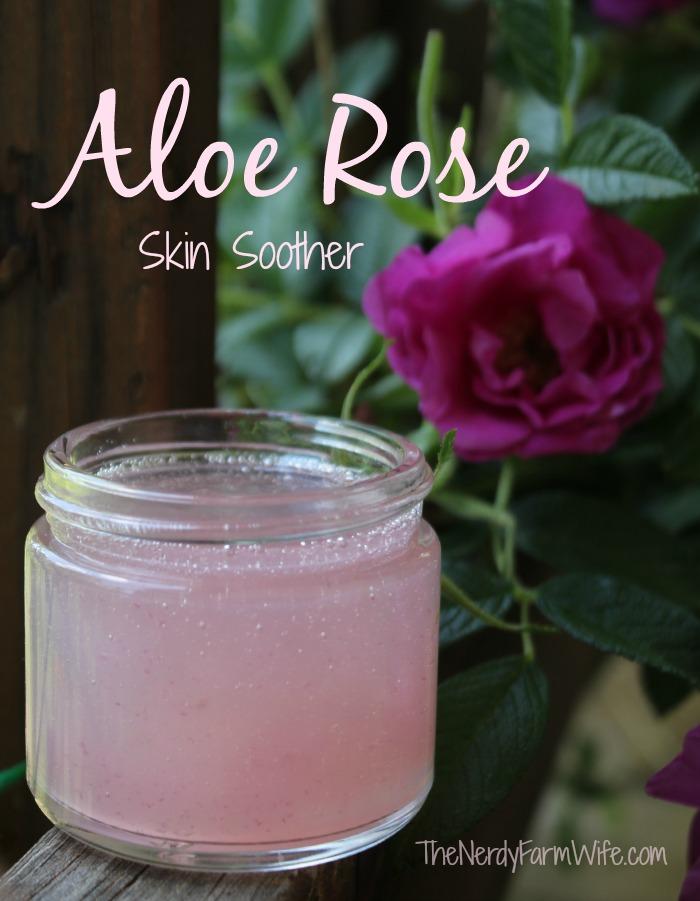 Aloe and Rose Petal Skin Soothing Gel