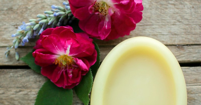 roses and lotion bar