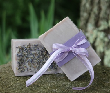 lavender buds on soap