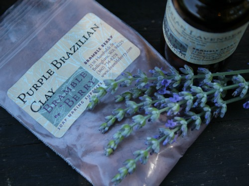 natural color and scent for homemade lavender soap recipe