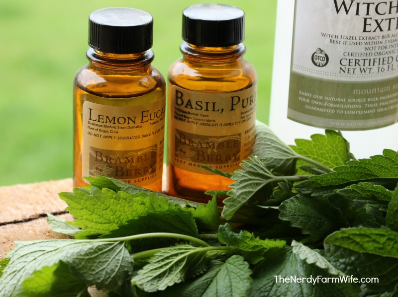 Lemon Balm Bug Spray Ingredients