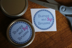 Printable Labels for Bumps & Bruises Balm
