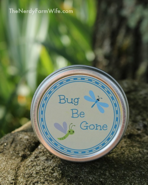 Bug Be Gone Salve With Printable Labels