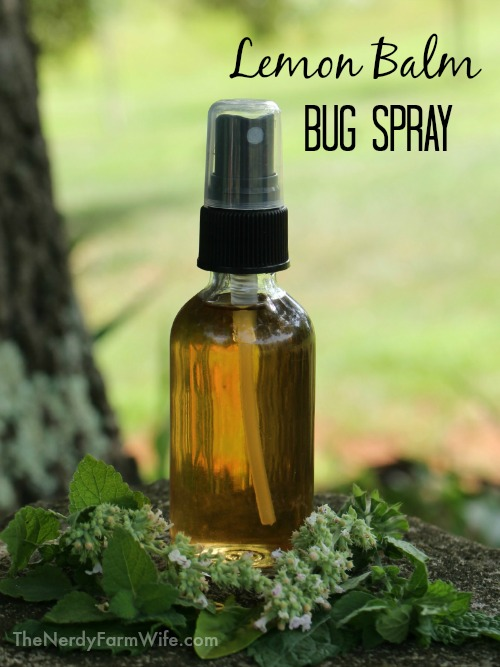 lemon balm bug spray