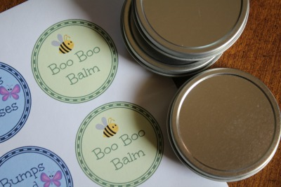 sticker lables for boo boo balm