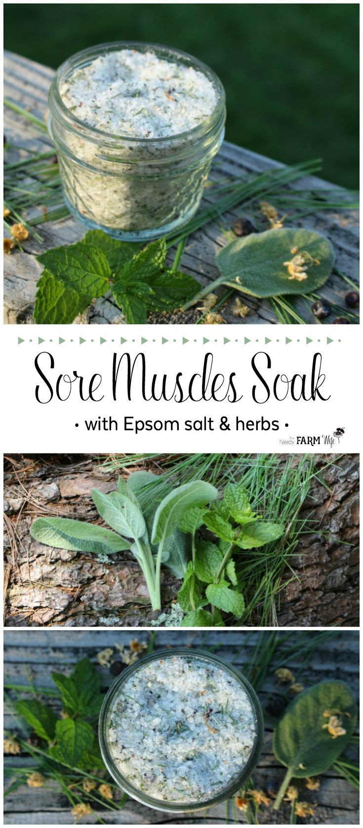 Sore Muscles Soak - made with Epsom salt and beneficial herbs