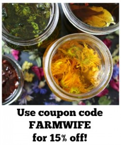 coupon code FARMWIFE for 15 percent off