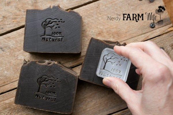 Stamping Pine Tar Soap