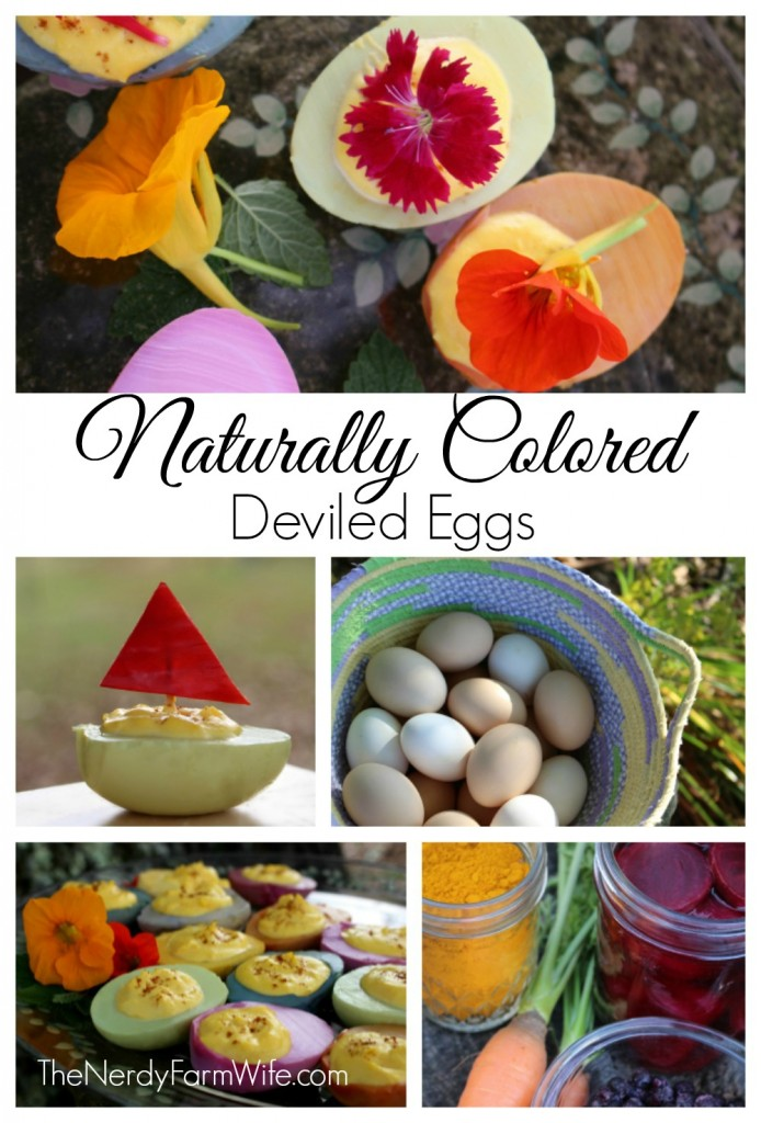Naturally Colored Deviled Eggs