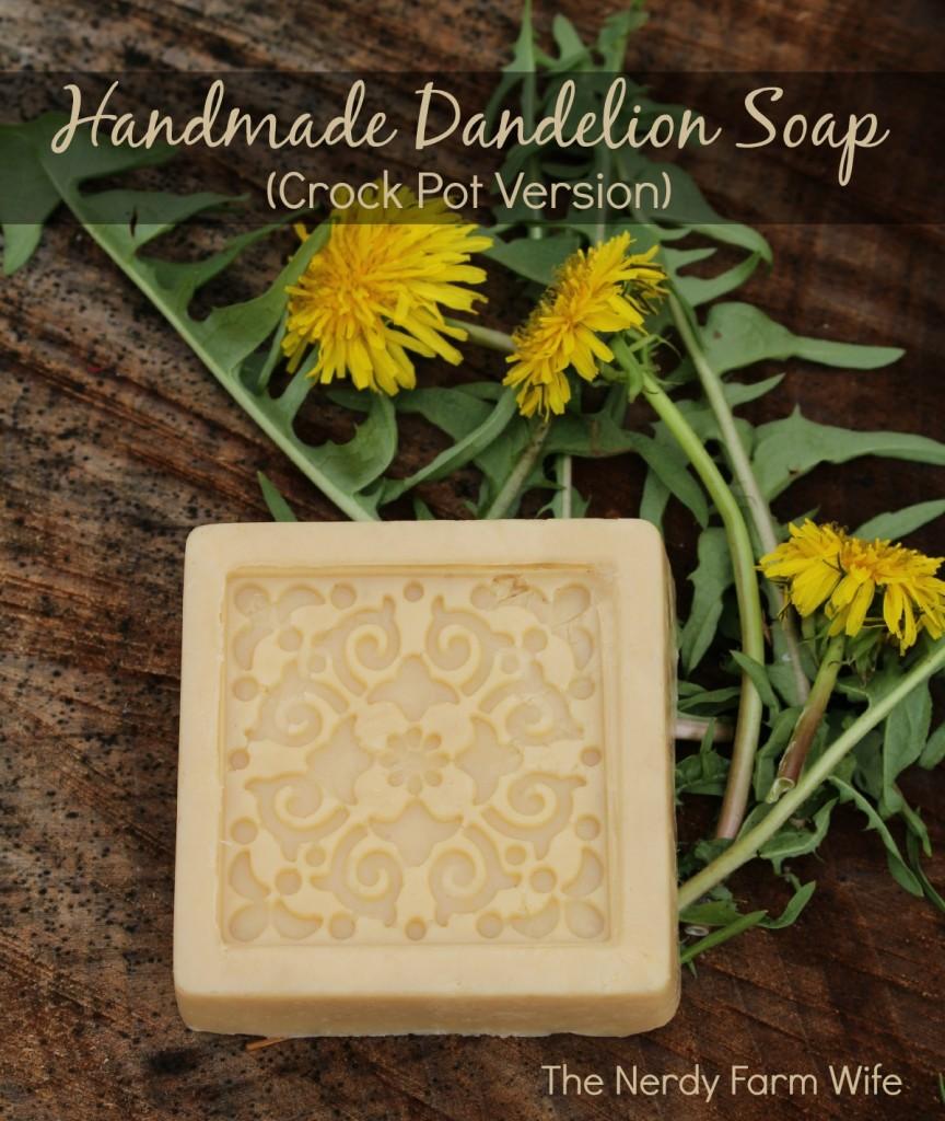 Handmade Dandelion Soap Crock Pot Version