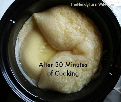 Avocado Shampoo Bar After 30 Minutes Cook Time
