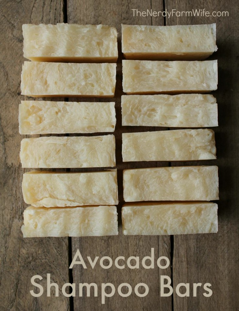 avocado shampoo bar