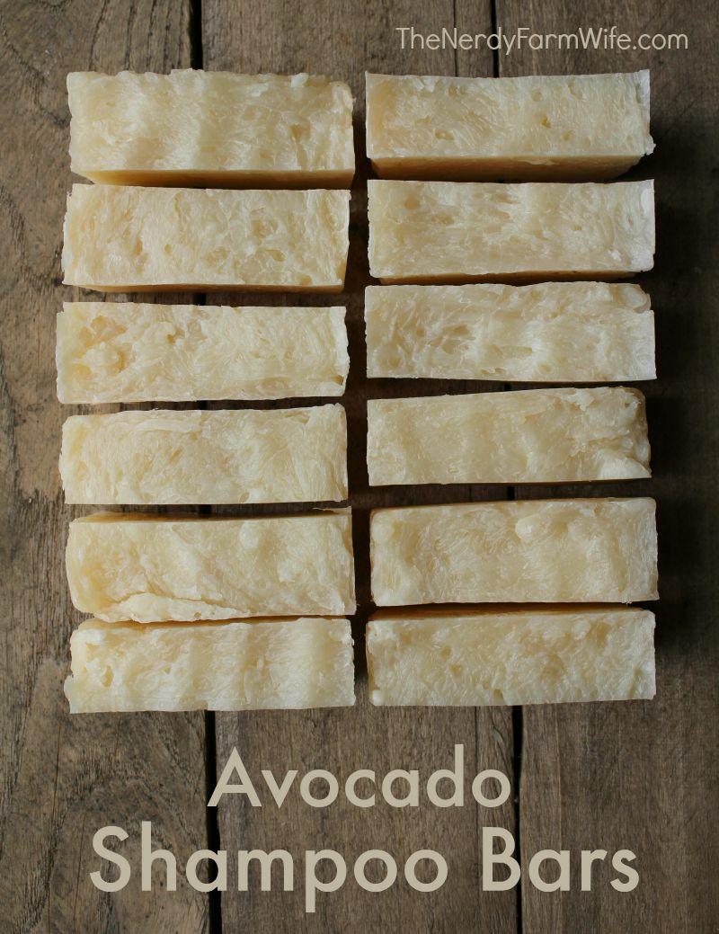 Avocado Shampoo Bars Recipe - Palm Free Hot Process Soap