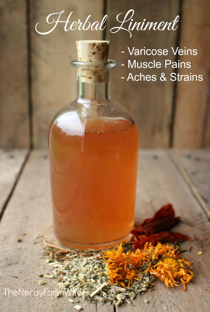 Herbal Liniment for Varicose Veins Muscle Pains and Strains Recipe