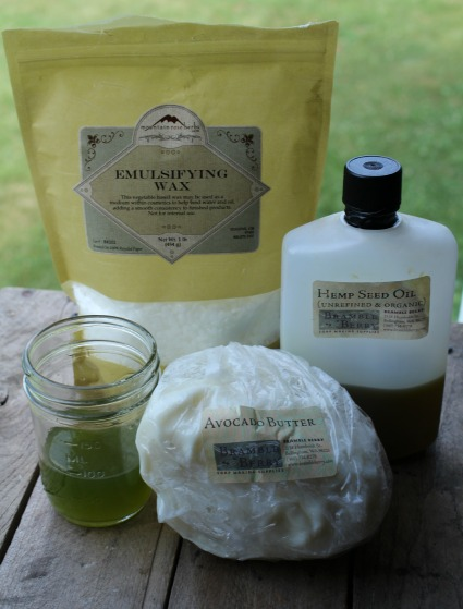 Ingredients for Basil Face Cream