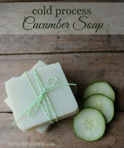 Cold Process Palm Free Cucumber Soap Recipe