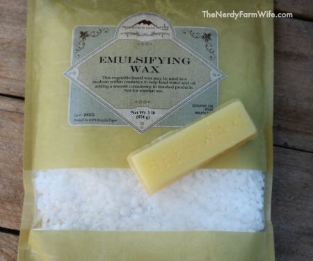 Emulsifying wax and beeswax