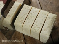 Cutting Goldenrod Soap