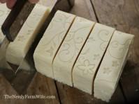 Cutting Goldenrod Soap