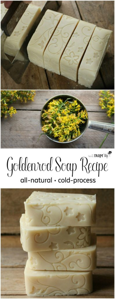 How to Make Goldenrod Soap with a Floral Fondant Mat Design
