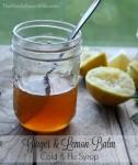 Ginger & Lemon Balm Syrup for Cold & Flu