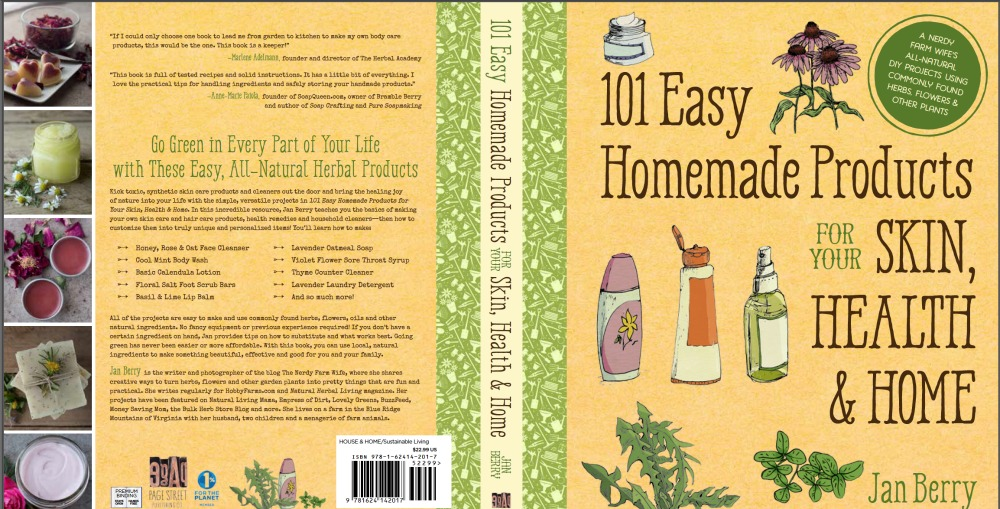 book jacket for 101 Easy Homemade Products