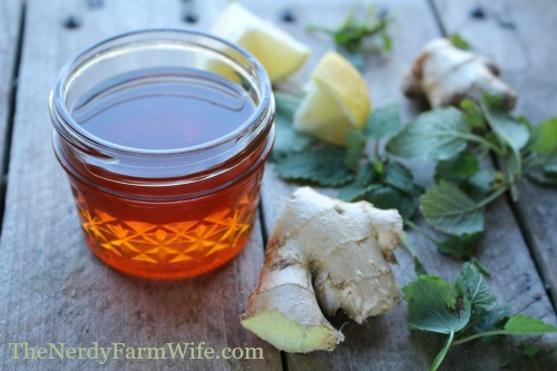 raw honey and ginger