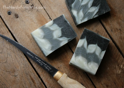 Cutting soap into bars