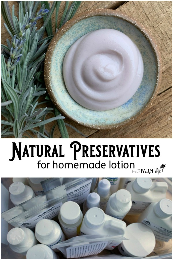 Natural Preservatives for Homemade Lotion- An experiment in using several kinds of nature-derived preservatives and how well they performed.