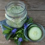 Easy DIY Cucumber Mint Bath Soak
