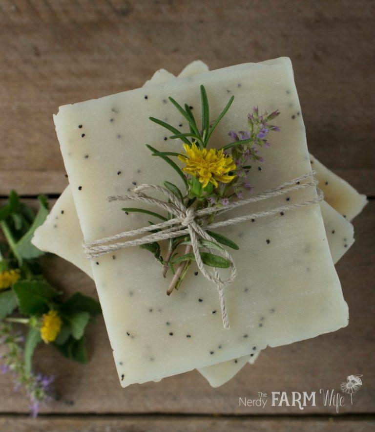 Dandelion Scrub Bar Soap Recipe