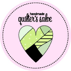 Pink quilter's salve label