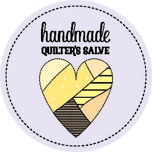 Purple quilter's salve labels