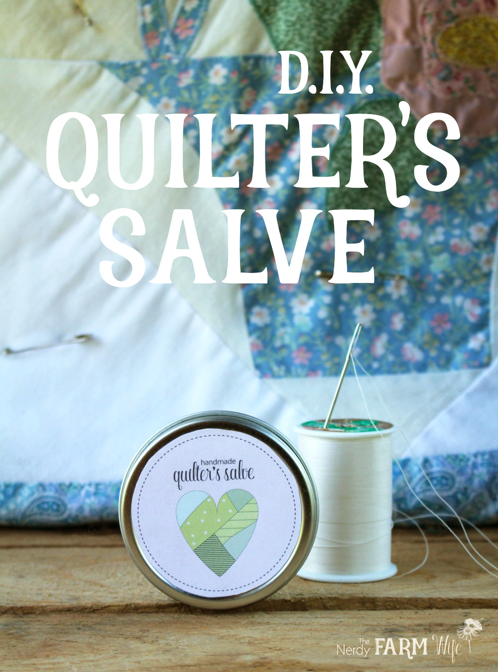 Learn how to make this DIY Quilter's Salve, perfect for the avid quilter in your life! FREE printable labels included!