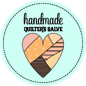 blue quilter's salve label