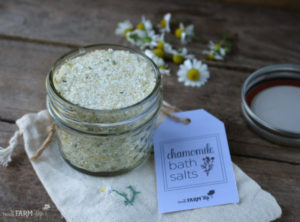 Chamomile Bath Salts With Printable Label