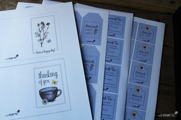 Chamomile Care Package Printables