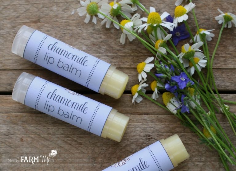 Soothing Chamomile Lip Balm {with printable labels}