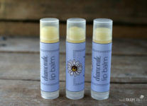 Chamomile Lip Balm Recipe with Printable Labels