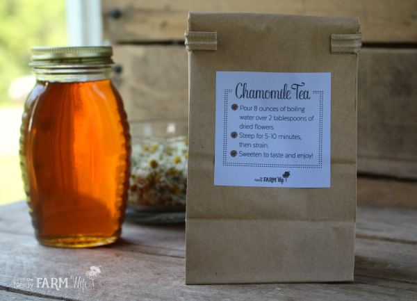Chamomile Tea Printable Label