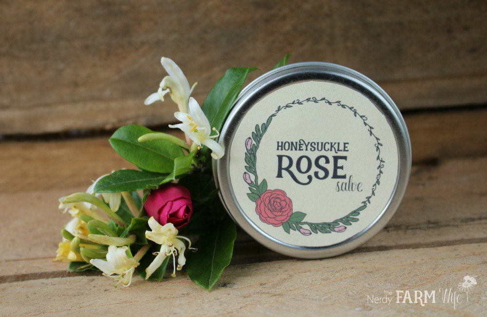 Honeysuckle Rose Salve Recipe with FREE Printable Labels