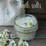 How to make DIY Chamomile Bath Salts