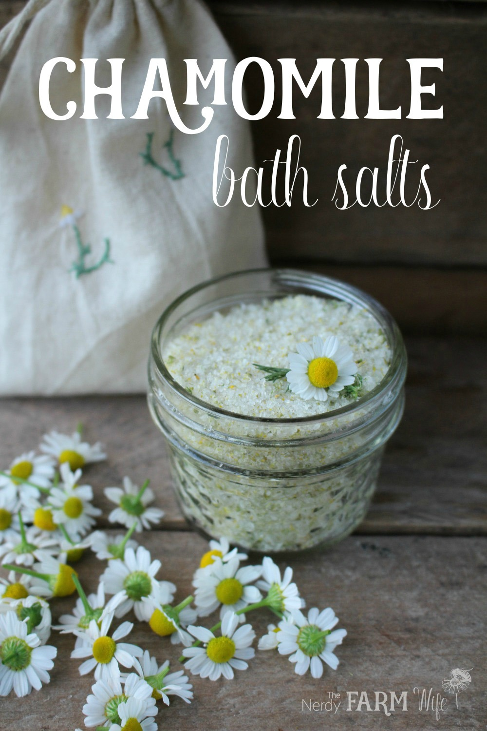 How to make DIY Chamomile Bath Salts
