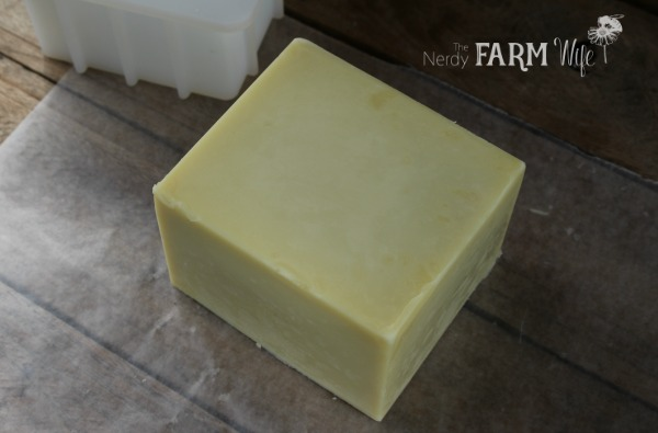 simple organic soap freshly turned out of its mold