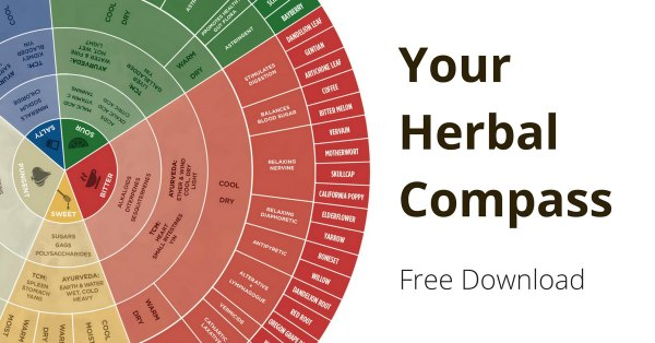Taste of Herbs Herbal Wheel