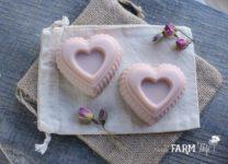 Rose Clay Heart Soap