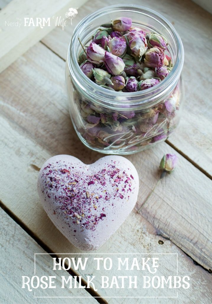 How to make all-natural Rose Milk Bath Bombs