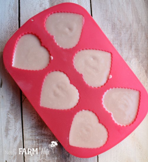 Rose Clay Soap in molds